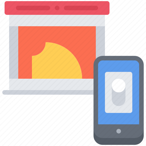 fireplace, house, internet, phone, smart, things, toggle icon