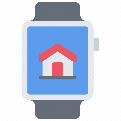 house, internet, smart, things, watch icon