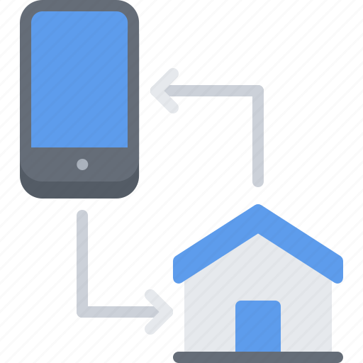 exchange, house, information, internet, phone, smart, things icon