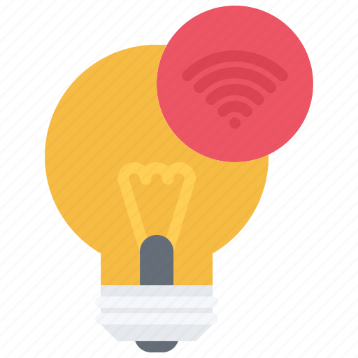 bulb, house, internet, light, smart, things icon