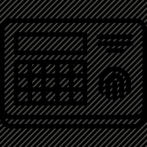 code, fingerprint, house, internet, lock, smart, things icon