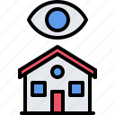 eye, house, internet, monitoring, smart, things icon