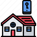 house, internet, key, phone, smart, things icon