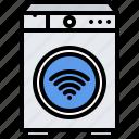 house, internet, machine, smart, things, washer, washing icon