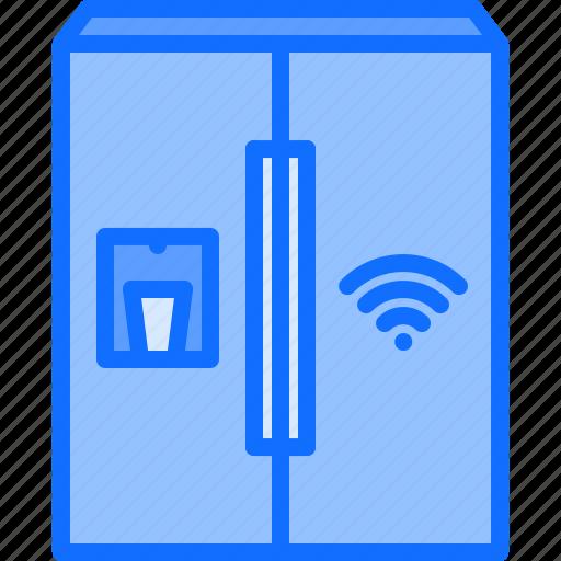 fridge, house, internet, refrigerator, smart, things icon