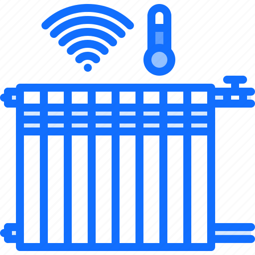 heating, house, internet, smart, temperature, things icon