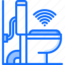 house, internet, robot, smart, things, toilet icon