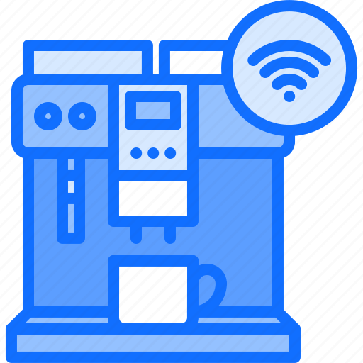 coffee, house, internet, maker, smart, things icon