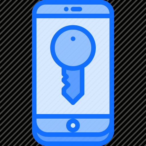 house, internet, key, password, phone, smart, things icon