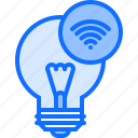 bulb, house, internet, light, smart, things icon
