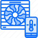 house, internet, phone, smart, temperature, things, ventilation icon
