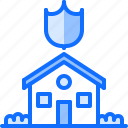 house, internet, protection, shield, smart, things icon