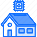 chip, cpu, house, internet, robot, smart, things icon