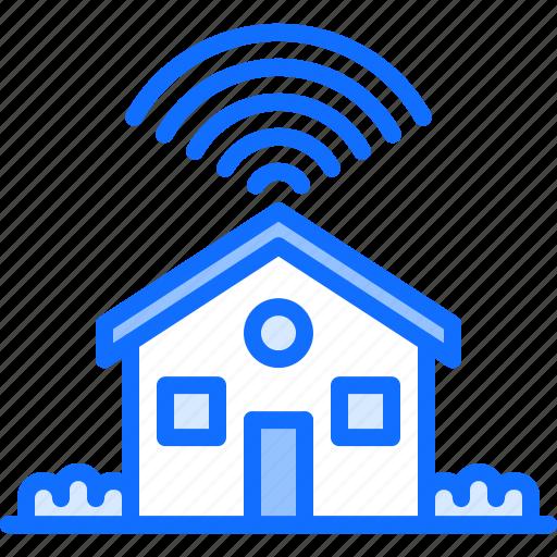 bush, fi, house, internet, smart, things, wi icon