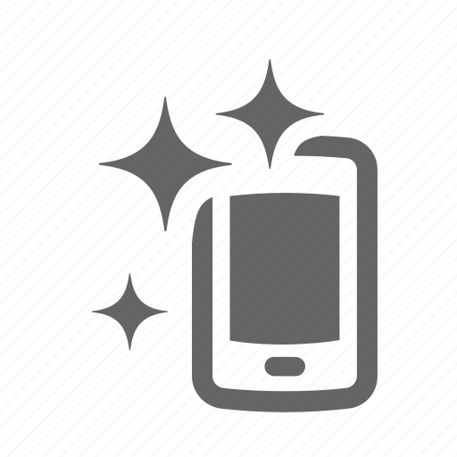 clean, device, mobile, phone, pure, screen, telephone icon