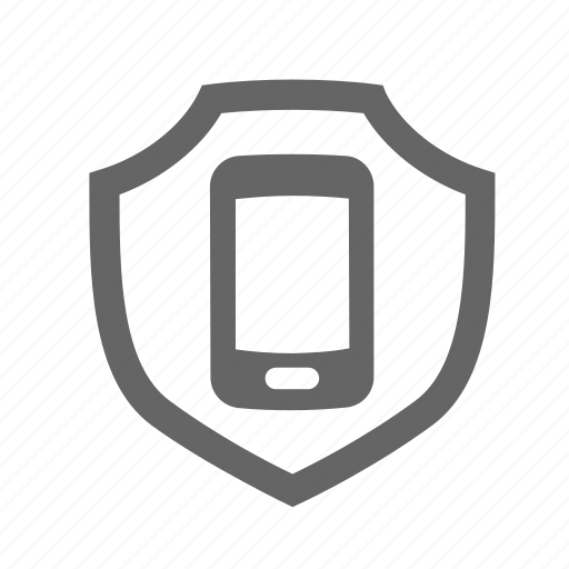 buckler, cellphone, defense, mobile, protection, shell, shield icon