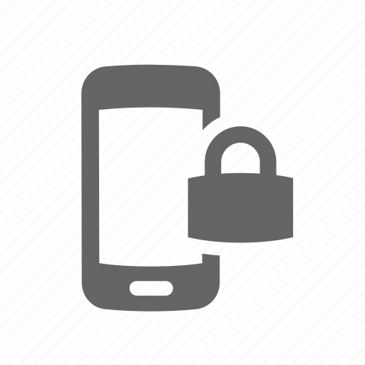 communication, device, lock, mobile, phone, protected, secure icon