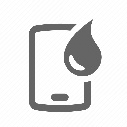 drop, fluid, glass, protection, screen, water, waterproof icon