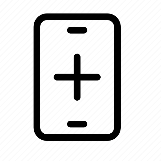 add, device, mobile, new, phone, plus, smart icon