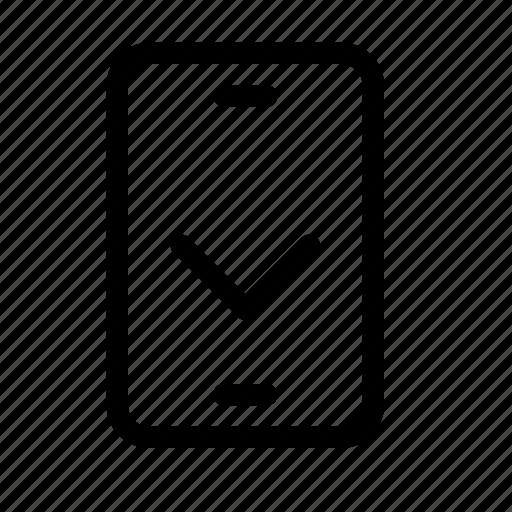 archive, chevron, down, download, phone, save icon
