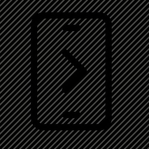 chevron, forward, mobile, next, phone, right, send icon