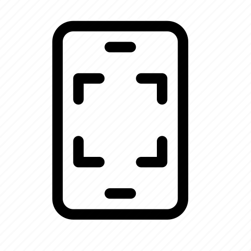 capture, expand, fullscreen, image, phone, photo, scan icon