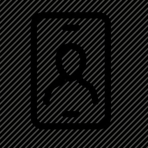 account, avatar, mobile, phone, photo, profile, user icon