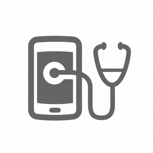 analysis, assessment, diagnose, mobile, service, stethoscope, сondition icon