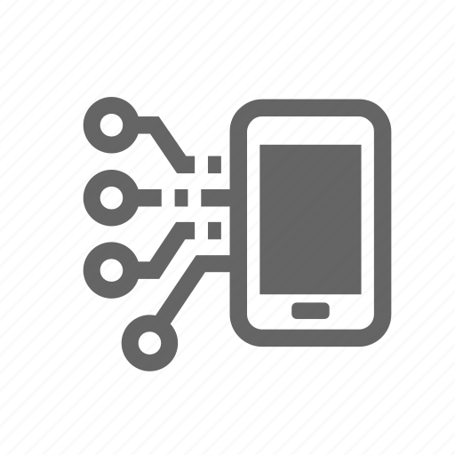 chip, microcircuit, mobile, recovery, refactoring, reprogram, restoration icon