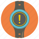 attention, smart, warning, watch icon