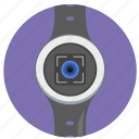 biometry, detect, eye, id, scan, smart, watch icon