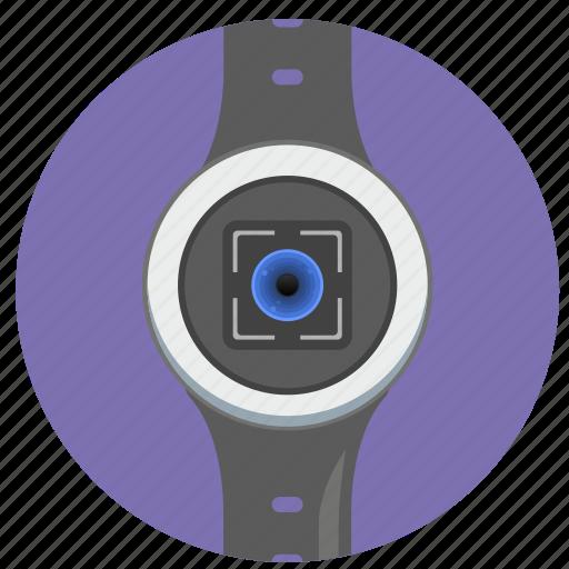 biometry, detect, eye, id, scan, smart, watch icon