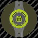 calendar, date, screen, smart, watch