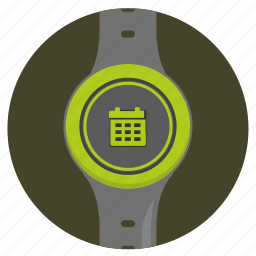 calendar, date, screen, smart, watch icon