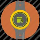 calendar, clock, digital, gear, settings, watch icon
