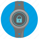 clocks, locked, round, smart, ui icon