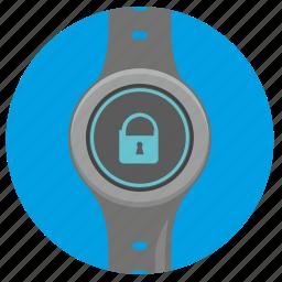 clocks, locked, round, smart, ui icon