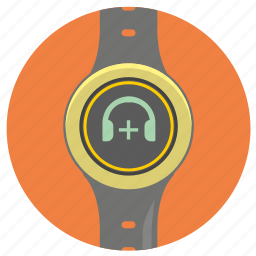 add, headphones, mute, plus, smart, sound, watch icon