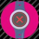 cancel, delete, function, smart, ui, watch icon
