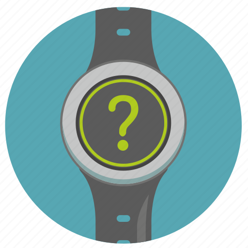 clock, quest, question, smart, watch icon