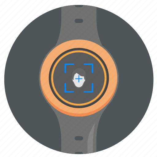 detect, face, head, person, smart, watch icon