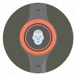 face, identity, scan, smart, watch icon