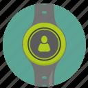 clock, person, smart, ui, user, watch icon