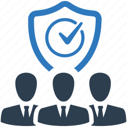business, group, guard, protection, shield, team, users icon