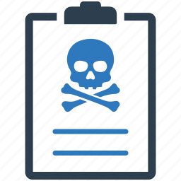 danger, report, skull, spam, virus, warning icon