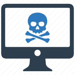 computer virus, danger, internet virus, phishing, skull, virus, warning icon
