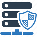 host, private hosting, protection, safe, server, shield, storage icon