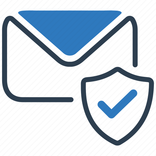 email, envelope, letter, mail, message, protected, shield icon