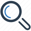 explore, find, magnifier, magnifying glass, search, searching, view icon