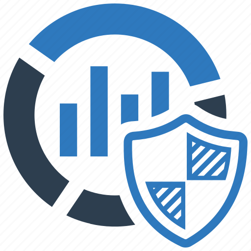 analytics, chart, data, protect, protection, report, security icon